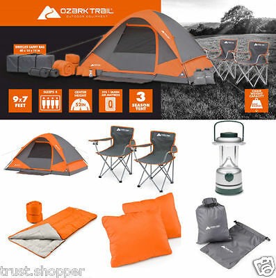 Camping Equipment Set 22 Piece Outdoor Gear 4 Person Tent Hiking Family Tents