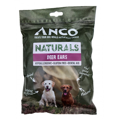 Anco Naturals Deer Ears 100% Natural Healthy Dog Treat Chew 5 Pack