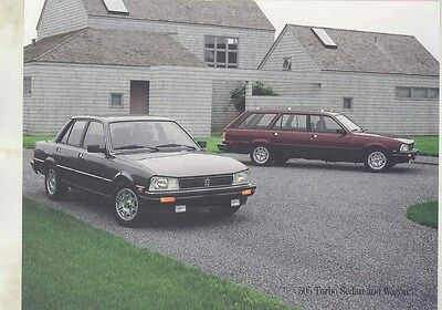 1986 Peugeot 505 Turbo Sedan & Wagon Brochure my6045