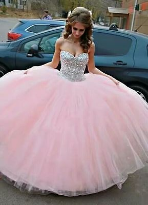 NEW QUINCEANERA PAGEANT Dress Prom Ball Gown Sweetheart Plus Size 4-26