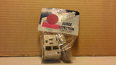 New Ditek Surge Protector Model DTK-1FF Single Outlet With RJ11 In And Out