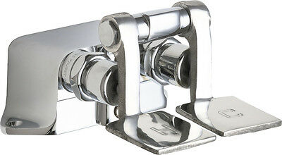 Chicago Faucets 625-ABCP Hot & Cold Water Floor Mount Double Pedal Valve, Chrome