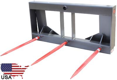 HD Hay Bale Spear Attachment Square Skid Steer Bobcat Kubota New Holland United