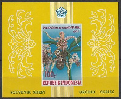 Indonesia 1977 Orchids Imperf  MS   MNH