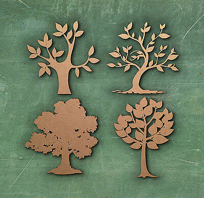 TREE SIMPLE SHAPE LASER CUT MDF WOODEN SHAPE Wood Craft Arts Decoration