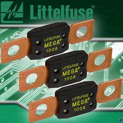 GENUINE LITTELFUSE MEGA FUSE  3x 100A AMP FUSES DUAL BATTERY BATTERIES SYSTEM