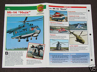 MIL MI-14 HAZE Helicopter Photo Spec Sheet Booklet Brochure