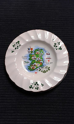 Carrigdhoun Pottery Map of Ireland Dish/ Ashtray