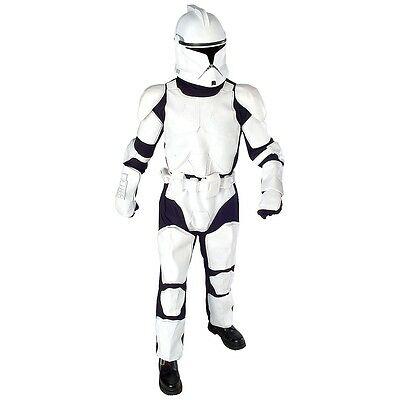 Deluxe Clone Trooper Costume Adult Star Wars Halloween Fancy Dress