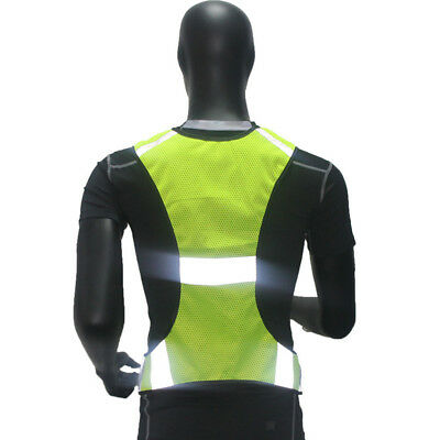 Safety High Visibility Reflective Running Vest Jogging Bike Cycling Walking