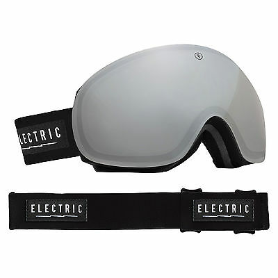 Electric EG3 Snow Goggles Gloss Black- Bronze/Silver Chrome + Bonus Lens