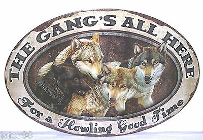 The Gang Is All Here For A Howling Good Time Metal Sign Apo/fpo Welcome