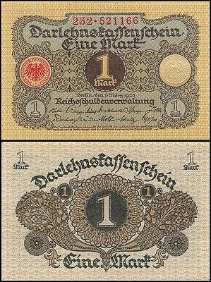 Germany 1 Mark, 1920, P-58, UNC