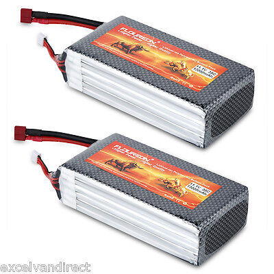 2x 11.1V 3S 35C 13000mAh Li-Po Battery Deans for RC Car Helicopter Airplane Boat