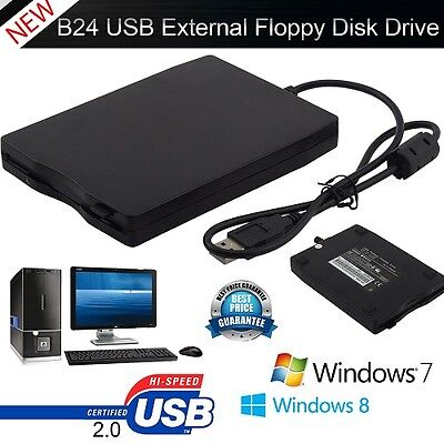 """3.5"""" External USB 2.0 Portable 1.44Mb Data save Floppy Disk Drive for Laptop PC"""