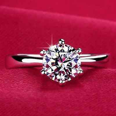 Charms 925 Sterling Silver Plated cubic zirconia New Jewelry Ring Size 5-8