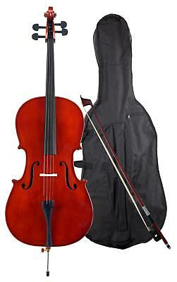Professional 4/4 Cello 4 Strings Bridge Bow Gigbag Stand Pin Handmade Rosewood