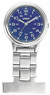 Lorus Doctor/Nurse Fob Watch Stainless Steel with Blue Dial RG251DX9