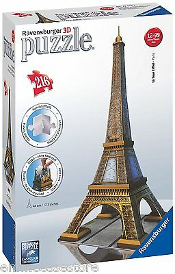 Tour Eiffel Puzzle 3D Building Ravensburger Giocattolo Bambino 12556