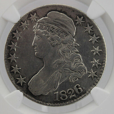 1826 Capped Bust Silver Half Dollar 50C Ngc Xf Details Cert# 3832270-001