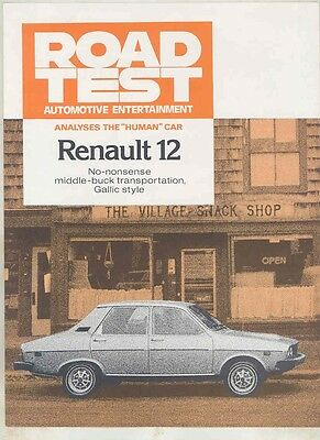1977 Renault 12 Roadtest Brochure my6075