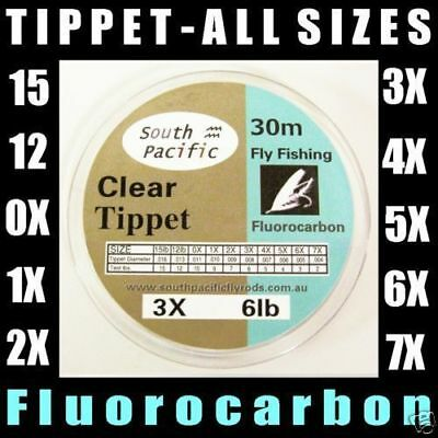 3 SPOOLS FLUORO TIPPET - ALL SIZES for Fly fishing rods