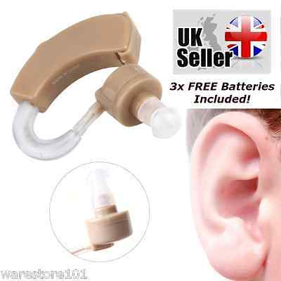 Left Right Hearing Aid Mini Sound Amplifier Behind In Ear Lightweight Voice Case