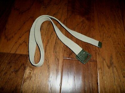 Original French Military Issue Khaki Web Belt With Open Face Buckle