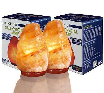 IndusClassic PACK-2 Natural Himalayan Crystal Rock Salt Lamp Air Purifer 4~ 7Lbs