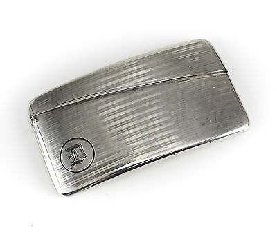 American Silver Curved Card Case, unmarked. c1900