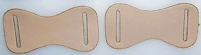 50 Leather Molded parts with 2 Long holes Upper NATURAL Crafts