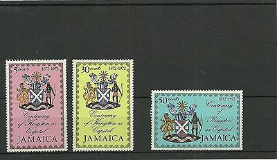 Jamaica Sg362-364-Centenary As Kingston As Capital-Mnh