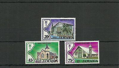 Jamaica Sg537-539-Christmas Churches 2Ng Series Mnh