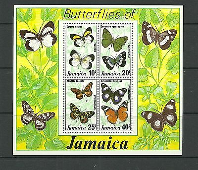 Jamaica Sgms433-Butterflies 2Nd Series Minisheet Mnh