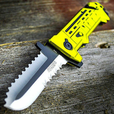 """8"""" Chain Saw Spring Assisted Open Folding Pocket Knife Tactical Fantasy Blade"""