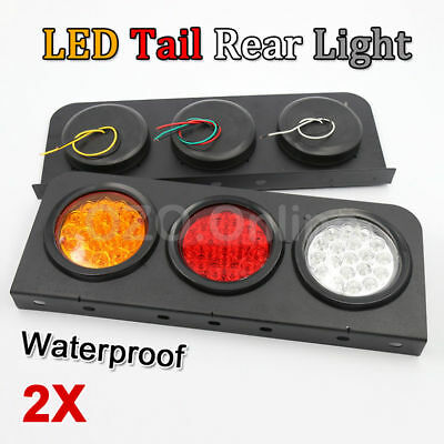 2 X LED TAIL LIGHTS TRUCK UTE TRAILER STOP INDICATOR 24 Volt PAIR WATERPROOF NEW