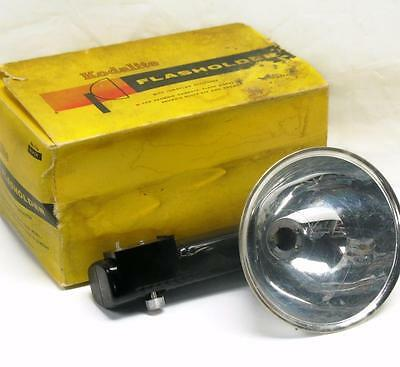 Vintage Kodak Kodalite Flasholder Model No. 710 Black with Lumaclad in Orig. Box