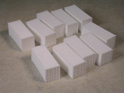 N Scale 10 @ 20 foot Rib Side Shipping Containers, #2305