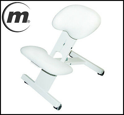 MOV Profesional Orthopaedic Kneeling Chair Adjustable Height 9 colours ! White