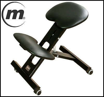 MOV Profesional Orthopaedic Kneeling Chair Adjustable Height 9 colours ! Black