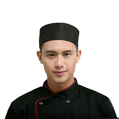 Black New TINKSKY Mesh Top Skull Cap Catering Chefs Hat with Adjustable Strap