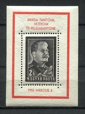 s8163) HUNGARY 1953 MNH** Death of Stalin s/s