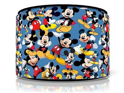 "Blue Mickey Mouse Light Ceiling Lamp Shade 11"" Nursery Kids Room Free P&p"