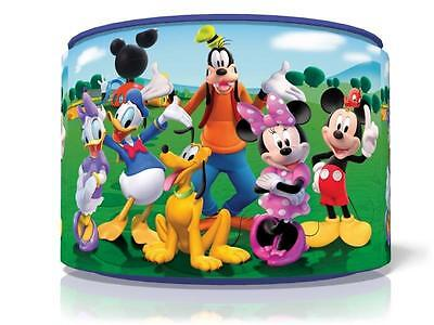 """Mickey Mouse Clubhouse Light Ceiling Lamp Shade 11"""" Nursery Kids Room Free P&p"""