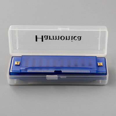 New 10 Holes Blue Harp Harmonica Musicical Instrument Key C For Music Lover