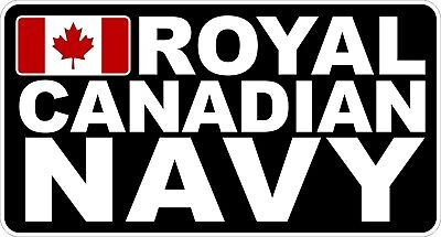 Royal Canadian Navy RCN Rectangle Decal / Sticker