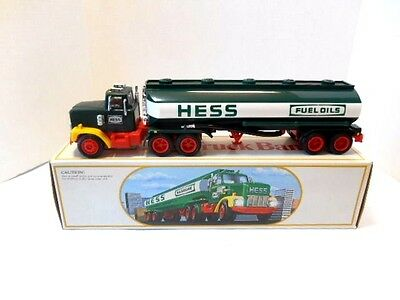 1984 Hess Gasoline   'Hess Toy Truck Bank'   Red Switch