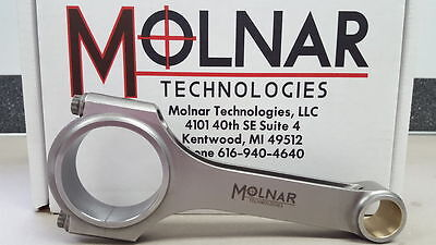 MOLNAR Ford NASCAR Late Model Stock  Billet H-Beam 6.200 Connecting Rods