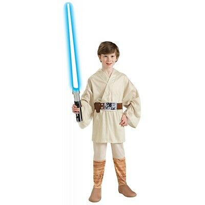 Luke Skywalker Costume Kids Star Wars Jedi Halloween Fancy Dress
