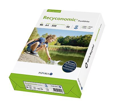 Recyconomic Pure White Copier Paper 80g/m² DIN-A4 paper Recycled paper